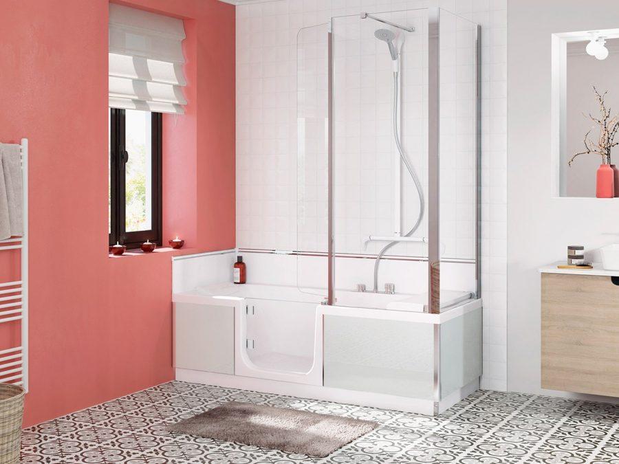 baignoire à porte senior et PMR