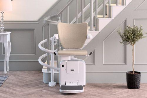 fauteuil monte-escaliers double rail